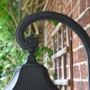 Large Black Ornate Victorian Wall Light Scrolled Bracket
