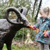 Ram Sculpture with child