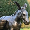 Close up of front view of Travelling Donkey Sculpture