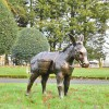 Antique Bronze Travelling Donkey Sculpture in Situ