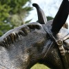 Close up of the Donkey sculpture's mane and reins