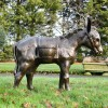 Antique Bronze Travelling Donkey Sculpture in Full