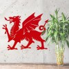Welsh Dragon Wall Art in Situ Next to a Plant in the Home