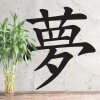 """""""Kanji Dream Symbol"""" Wall Art in Use in the Home"""