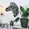 Geometric Zebra Wall Art in Living Room