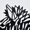 Close up of geometric Zebra wall art