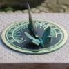 Brass Butterfly Sundial in a Verdigris Finish