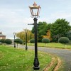 Victorian Garden  Lamp Post In Copper 3.2m