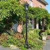 Victorian lamp post in garden