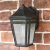 Victorian style outdoor garden wall light with frosted glass