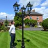 Scale photo of triple headed lamp post