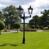 Black Victorian Triple headed lamp post