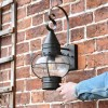 Vintage Round Caged Wall Lantern to Scale