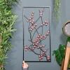 Wintersweet Floral Metal Wall Art to Scale