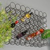 12 Bottle Black Wall Mounted Wine Rack