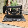 Black Bishton Mallery Boot scraper on door matt