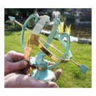 Small Verdigris Armillary To scale