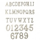 1.5 - 2 Inch Self Adhesive Numbers & Letters Chrome (Solid Brass)