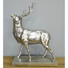 Profile view of stag table ornament