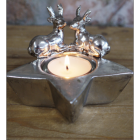 Christmas Star & Stag Tea Light Holder