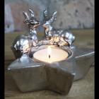 Christmas Star and Stag Tea Light Holder