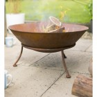 Rustic Kadai Bowl In Use Burning Wood