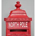 Close up of top of mail box with finial