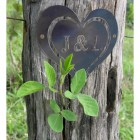 """7"""" Iron Initial Heart in Situ on a Tree"""