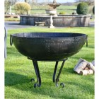 80cm Kadai Bowl in garden setting