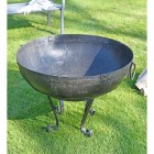 Kadai Bowl 80cm with stand in garden