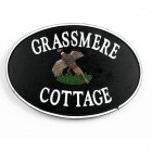 Cast Iron Effect Oval House Name Sign - Pheasant