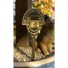 Pet Memorial Sign - Brass Horse Spiked