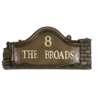 Bronze Builders House Name Sign