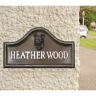 Border Collie house name plaque