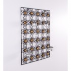 Flower wall art with candle holder