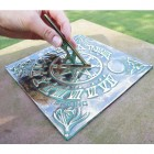 """Four Seasons"" Sundial Finished in a Verdigris Finish"