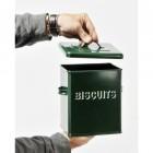 Bessie Forest Green Biscuit Tin