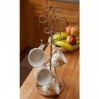 """Lucy Lane"" Rustic iron mug tree"