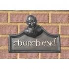 Serene Mythical Monk House Name Sign