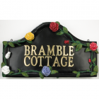 Hand Painted Rose House Name Sign