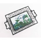 Pond Lilie's Iron & Ceramic Tray