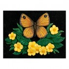 """Orangetip Meadow"" butterfly cast iron effect house name sign"