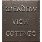 Large Square Slate Effect House Number Sign