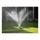 Bronze watering can sprinkler working
