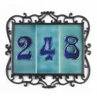 Treble Black Ornate Number Tile Frame
