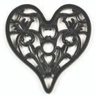 Trivet - Heavy Duty V3 Heart - Black
