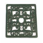 Green Square Cast Iron Trivet