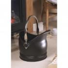 Nickel & Black Iron Victorian Coal Bucket