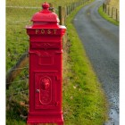 """African Sunset"" Red Camden Deluxe Free Standing Post Box"
