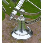 """Close-up of the Base on the """"Almwick Manor"""" Solid Brass Armillary Sundial"""